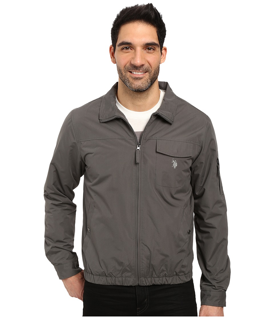 U.S. POLO ASSN. - Zip-Up Fleece Jacket (Dark Shadow) Men's Coat