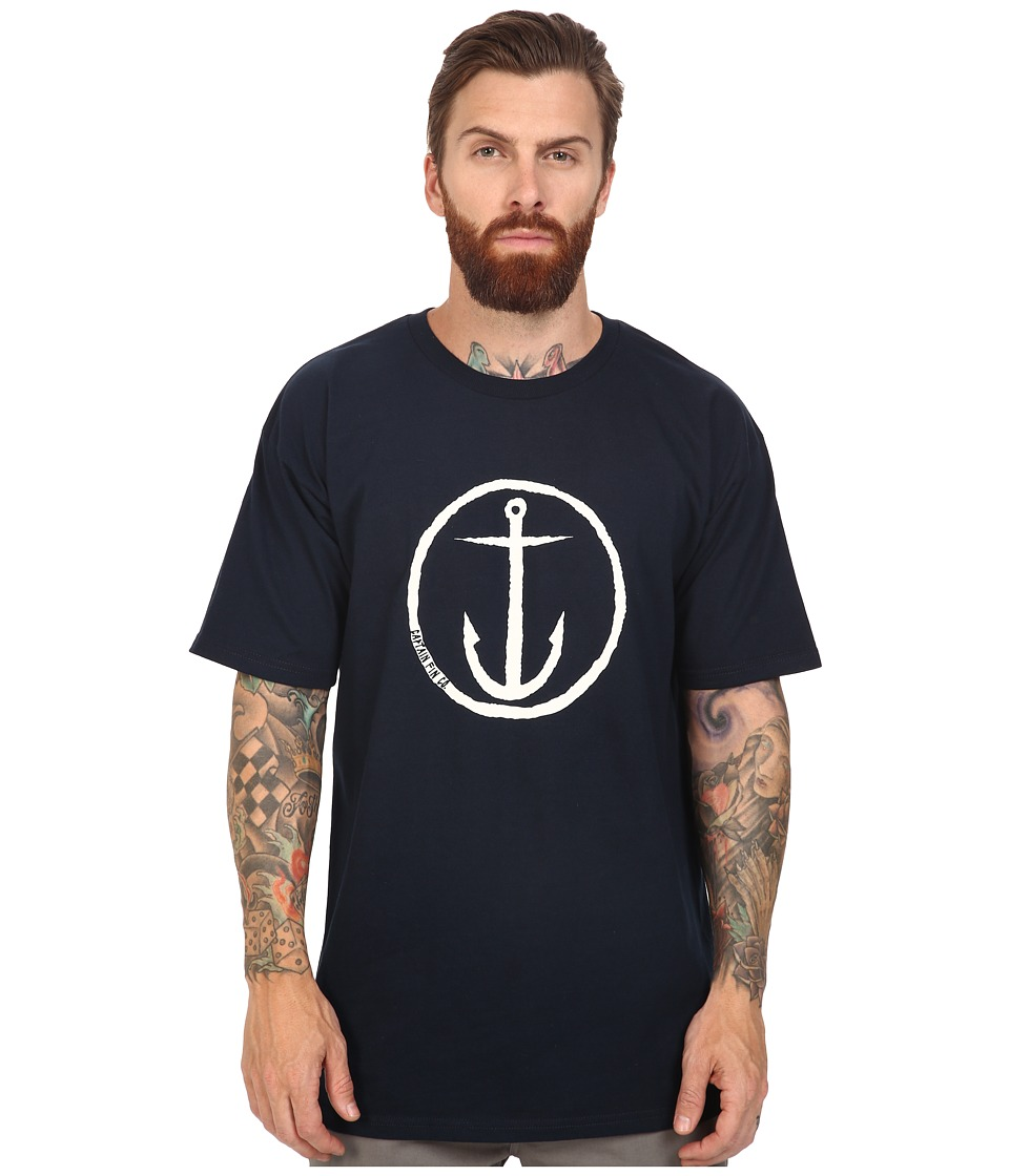 Captain Fin - OG Anchor Standard Tee (Navy/White) Men's T Shirt