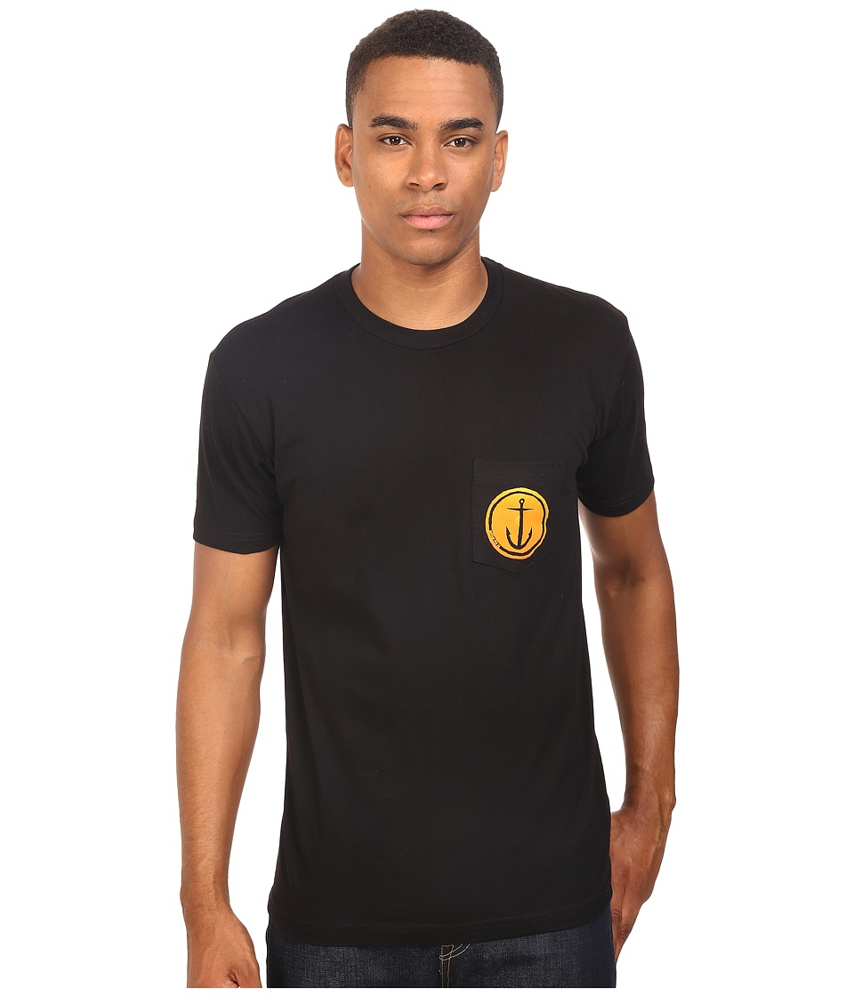 Captain Fin - Tally Ho Premium Pocket Tee (Black) Men's T Shirt