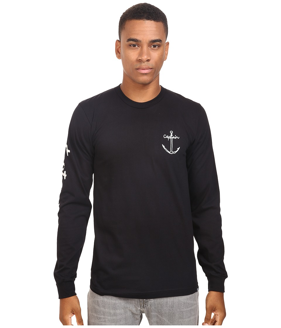 Captain Fin - Stable Long Sleeve Tee (Black) Men's T Shirt