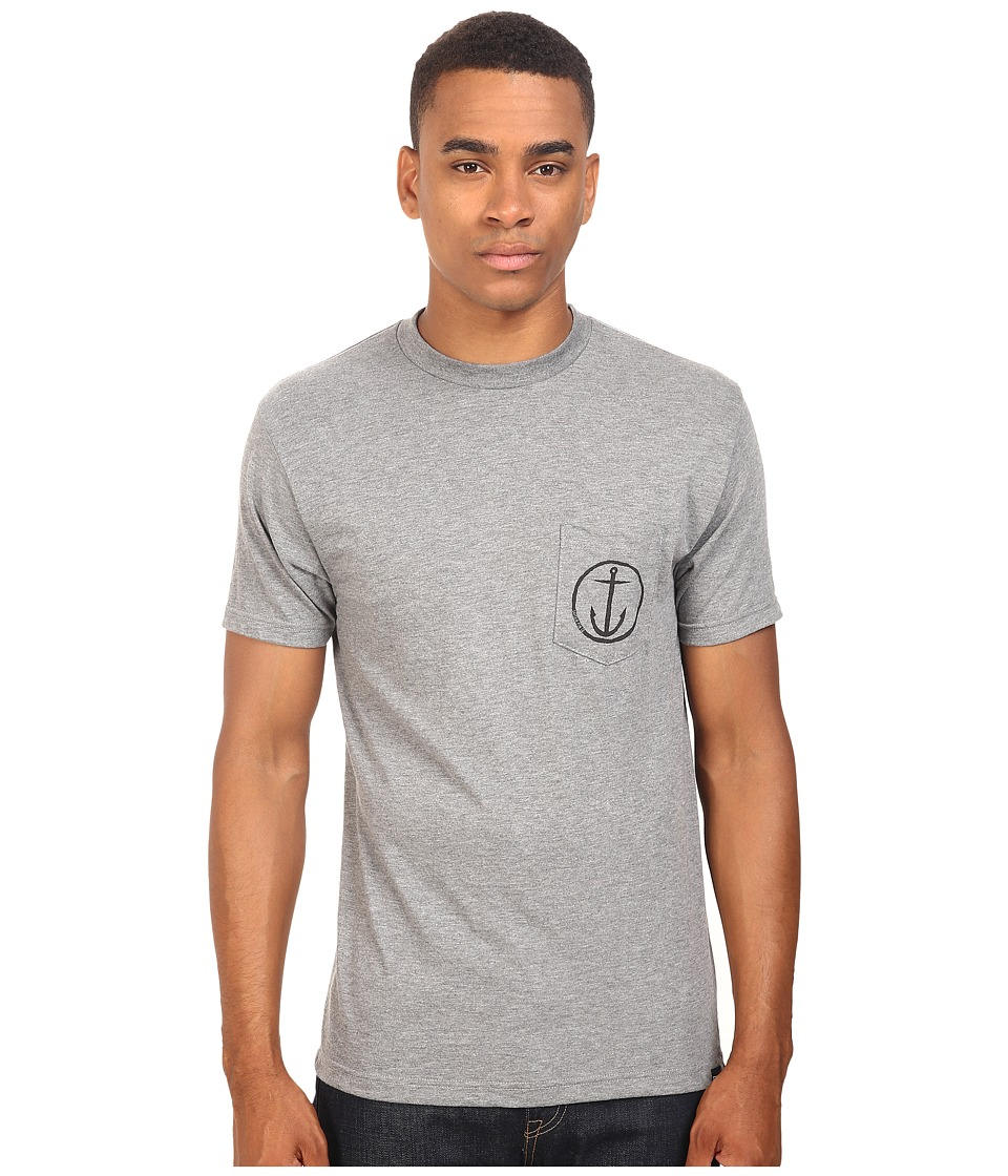 Captain Fin - Helm Pocket Tee (Heather Black) Men's T Shirt