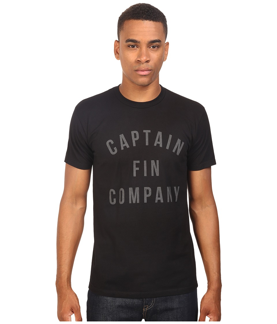 Captain Fin - College Premium Tee (Black/Grey) Men's T Shirt