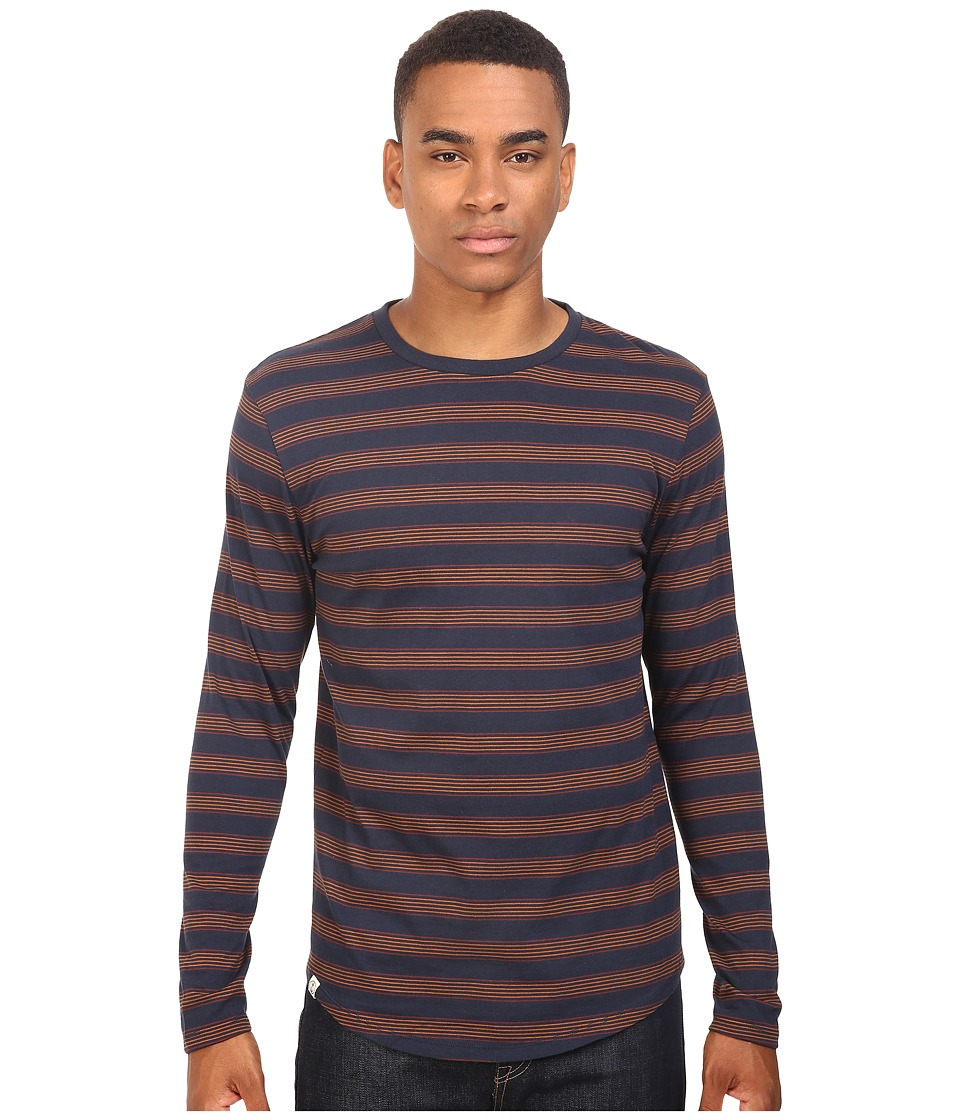 Captain Fin - Scooter Long Sleeve Knit (Navy) Men's Clothing