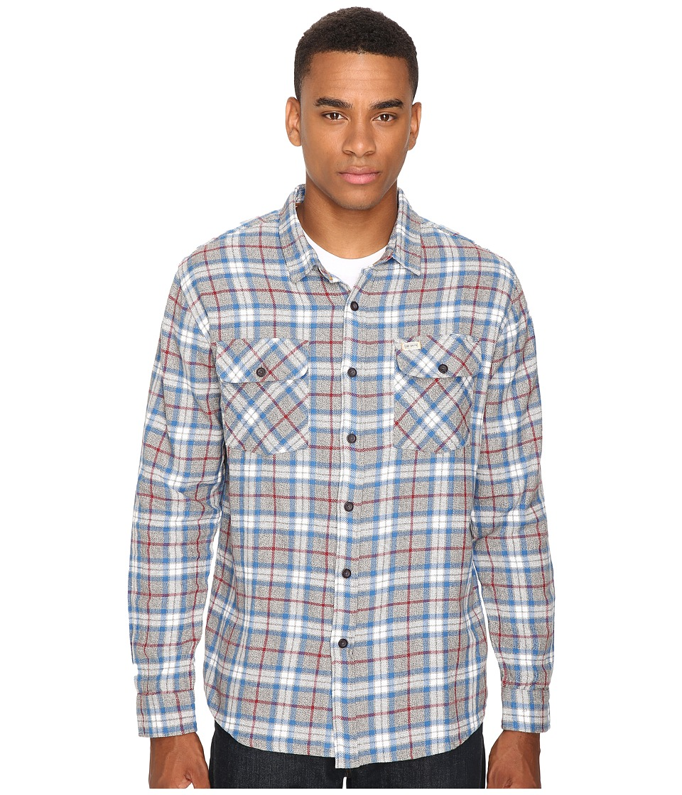 Captain Fin - Buddy Flannel (Grey Heather) Men's Clothing