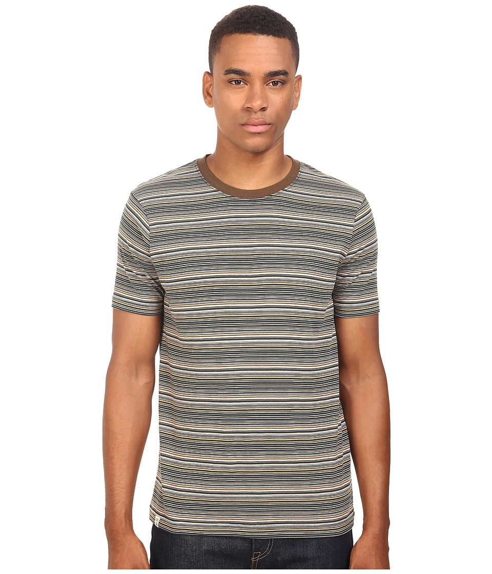 Captain Fin - Clyde Short Sleeve Knit (Taupe) Men's Clothing