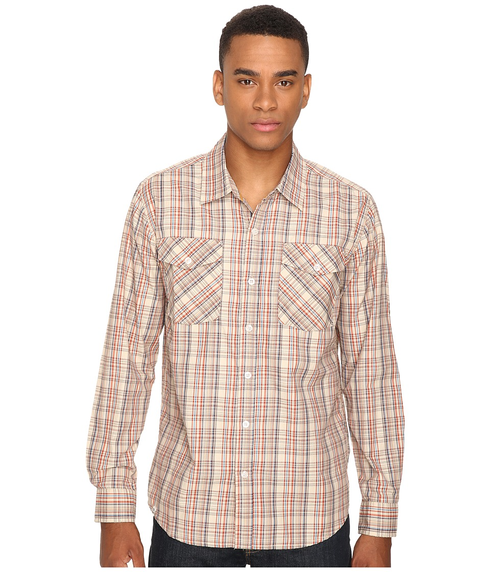 Captain Fin - Hay Man Long Sleeve Woven (Tan) Men's Clothing