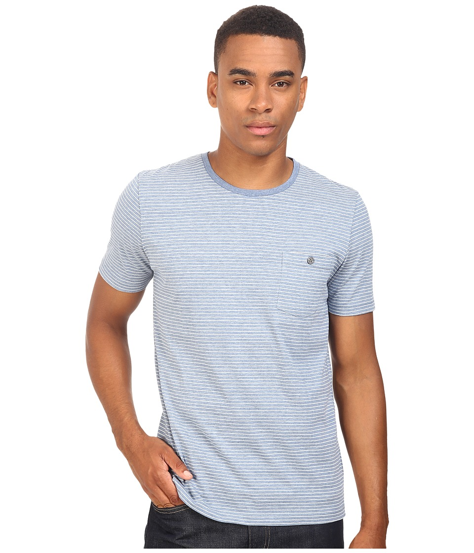 Captain Fin - Sanders Short Sleeve Knit (Blue) Men's Clothing