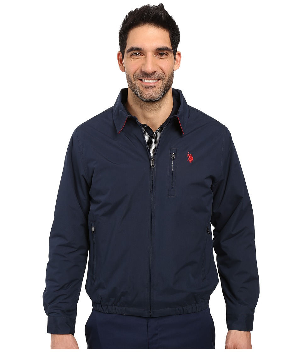 U.S. POLO ASSN. - Micro Golf Jacket (Classic Navy) Men's Coat