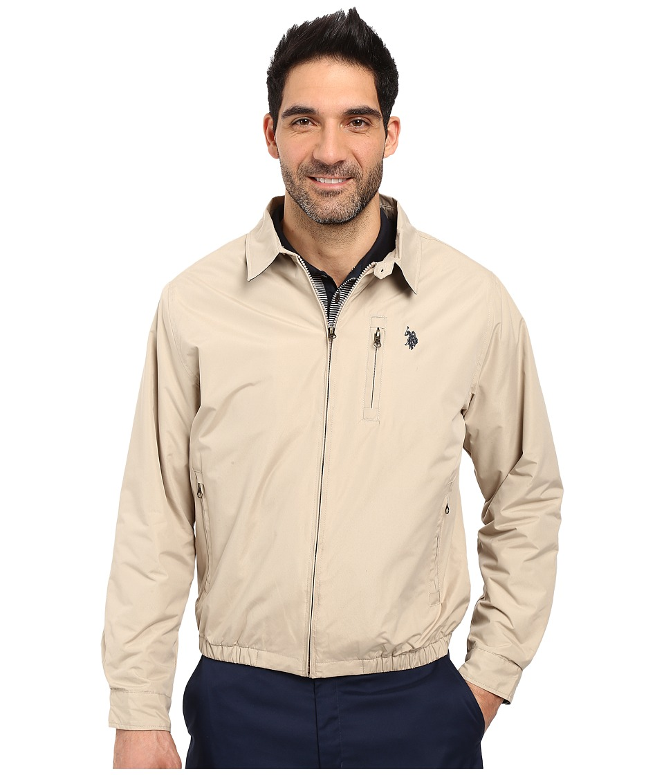 U.S. POLO ASSN. - Micro Golf Jacket (Thompson Khaki) Men's Coat