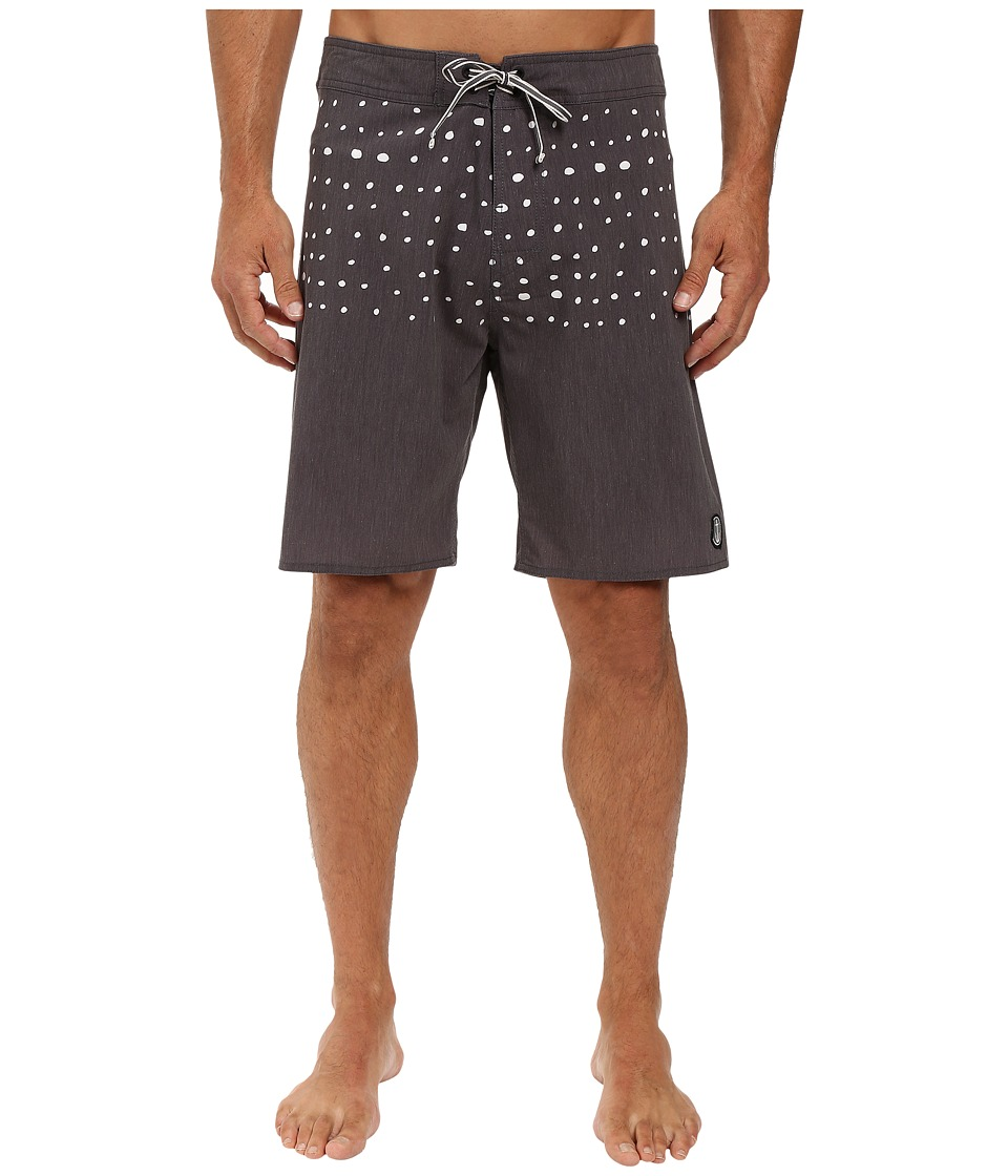 Captain Fin - Dotman Boardshorts (Black) Men's Swimwear