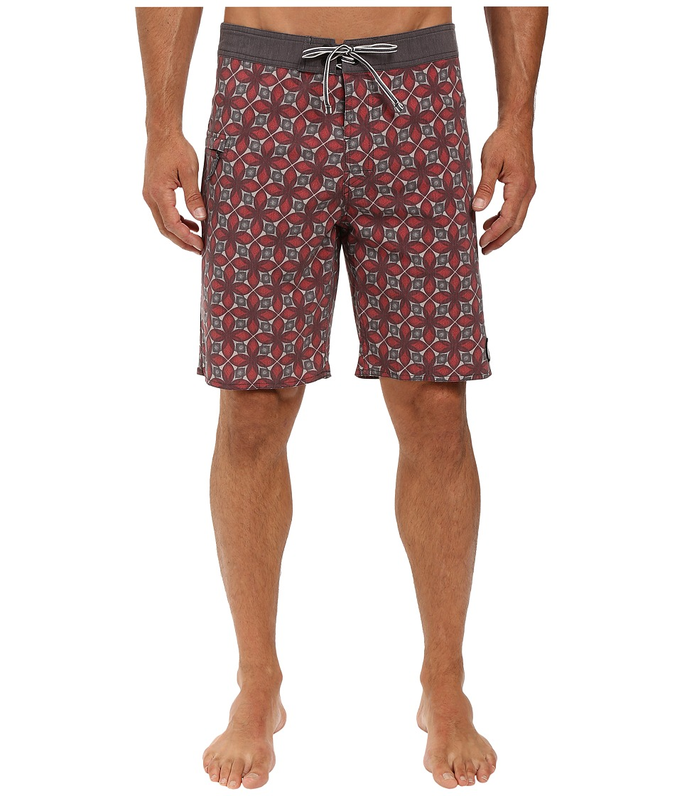 Captain Fin - Flowa Powa Boardshorts (Red) Men's Swimwear