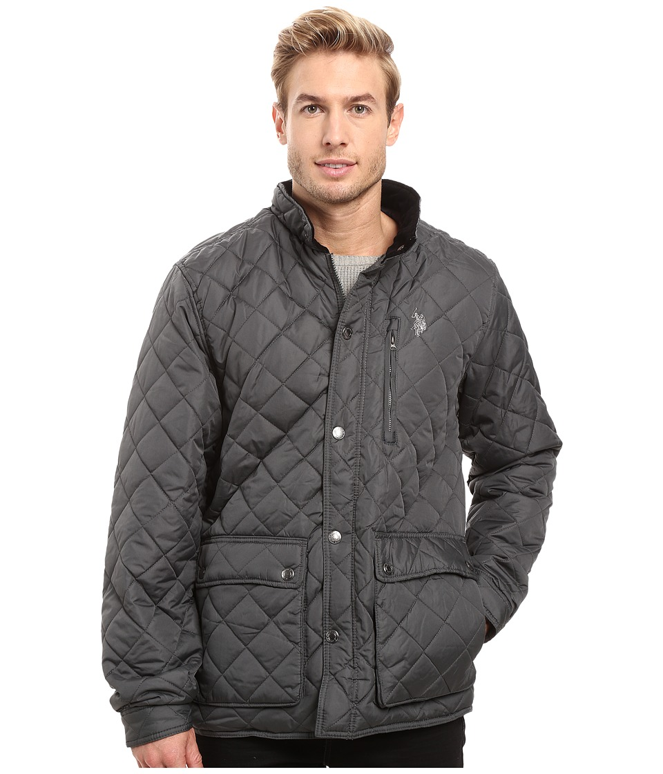 U.S. POLO ASSN. - Diamond Quilted Jacket (Dark Shadow) Men's Coat