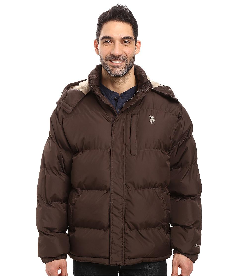 U.S. POLO ASSN. - Classic Short Bubble Jacket (Dark Brown) Men's Coat