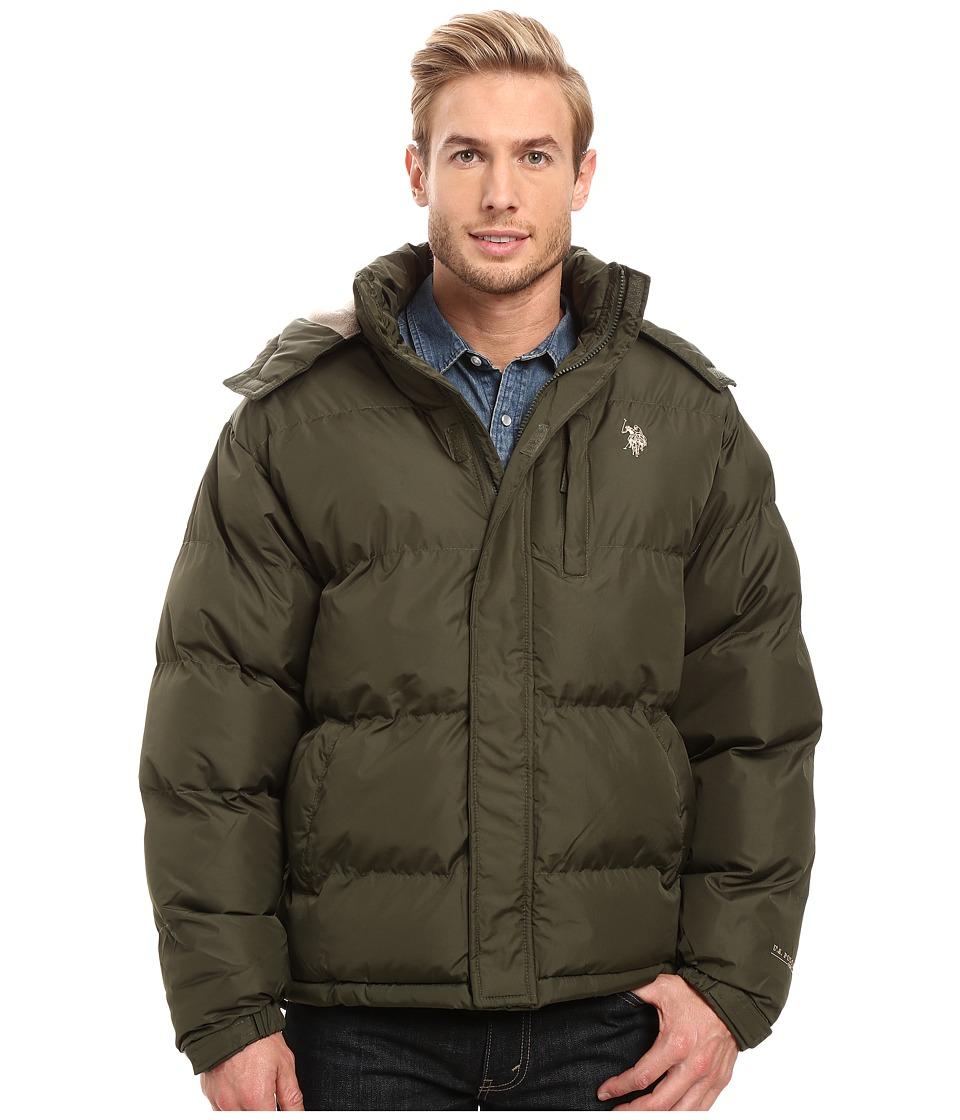 U.S. POLO ASSN. - Classic Short Bubble Jacket (Forest Night) Men's Coat