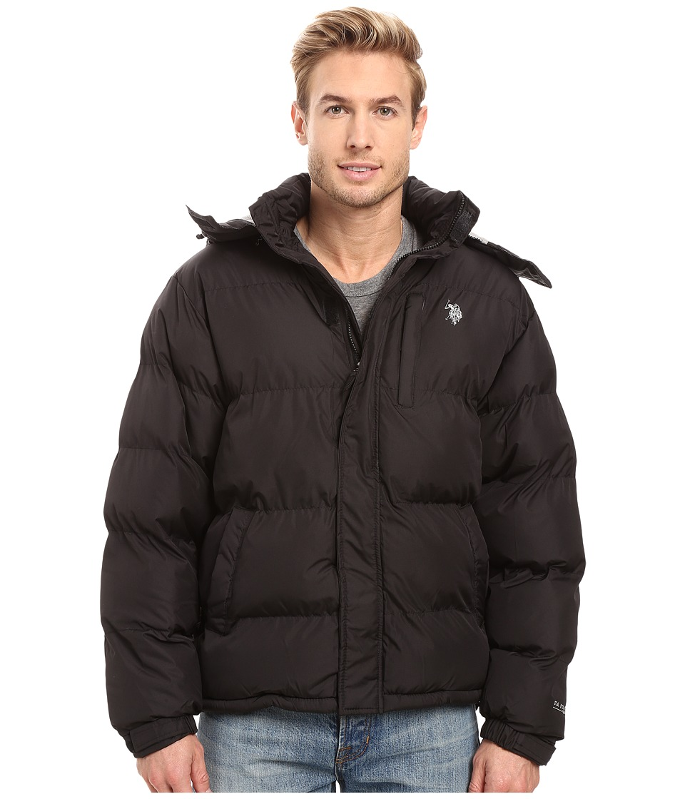 U.S. POLO ASSN. - Classic Short Bubble Jacket (Black) Men's Coat