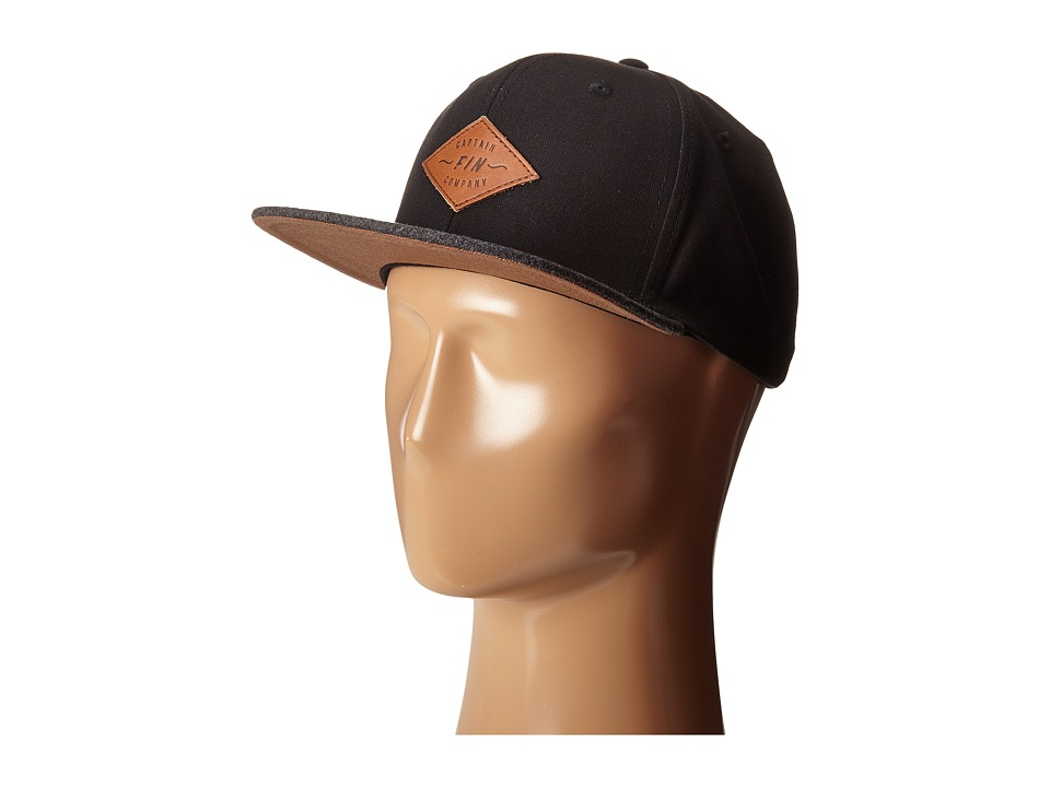 Captain Fin - Skippy 6 Panel (Black) Caps