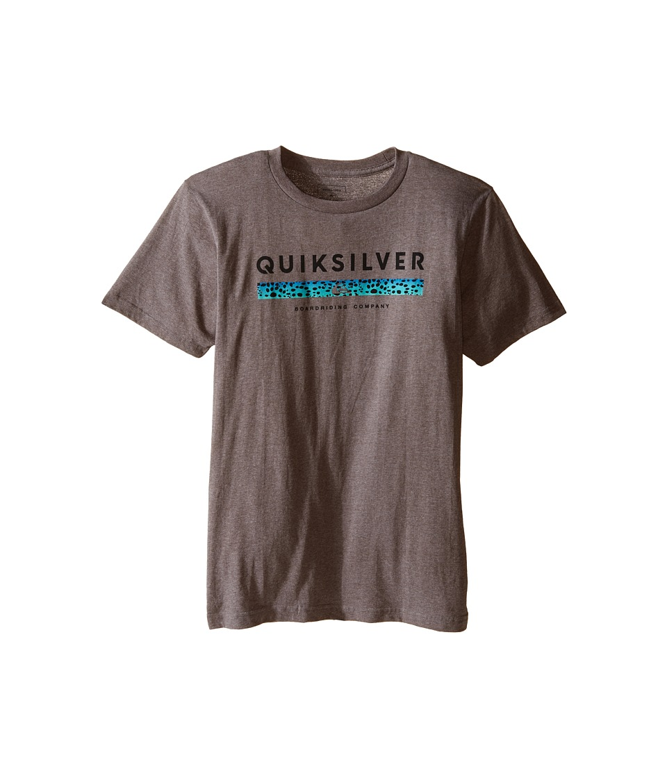Quiksilver Kids - Under Score Screen Print (Big Kids) (Medium Grey Heather) Boy's T Shirt