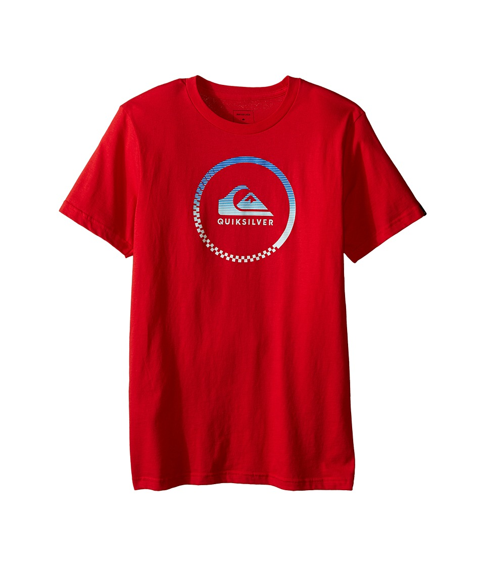 Quiksilver Kids - Active Logo Screen Print (Big Kids) (Quik Red) Boy's T Shirt