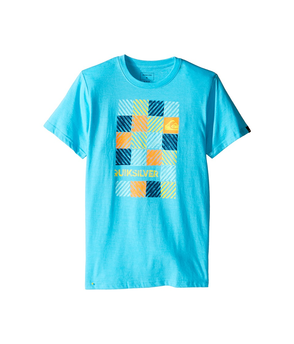 Quiksilver Kids - Opt Out Screen Print (Big Kids) (Scuba Blue Heather) Boy's T Shirt