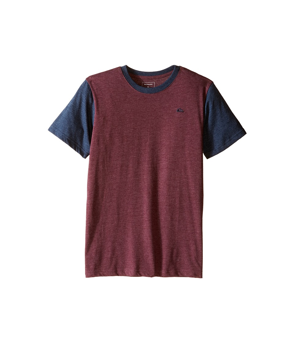 Quiksilver Kids - Prime Screen Print (Big Kids) (Port Royale Heather) Boy's T Shirt