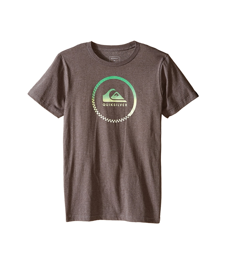 Quiksilver Kids - Active Logo Screen Print (Big Kids) (Medium Grey Heather) Boy's T Shirt