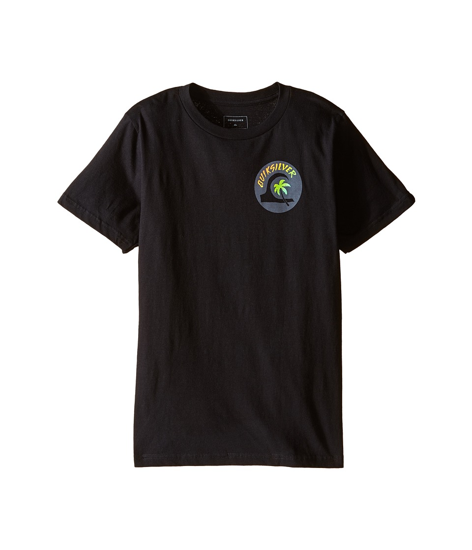 Quiksilver Kids - Hot Spot Screen Print (Big Kids) (Black) Boy's T Shirt