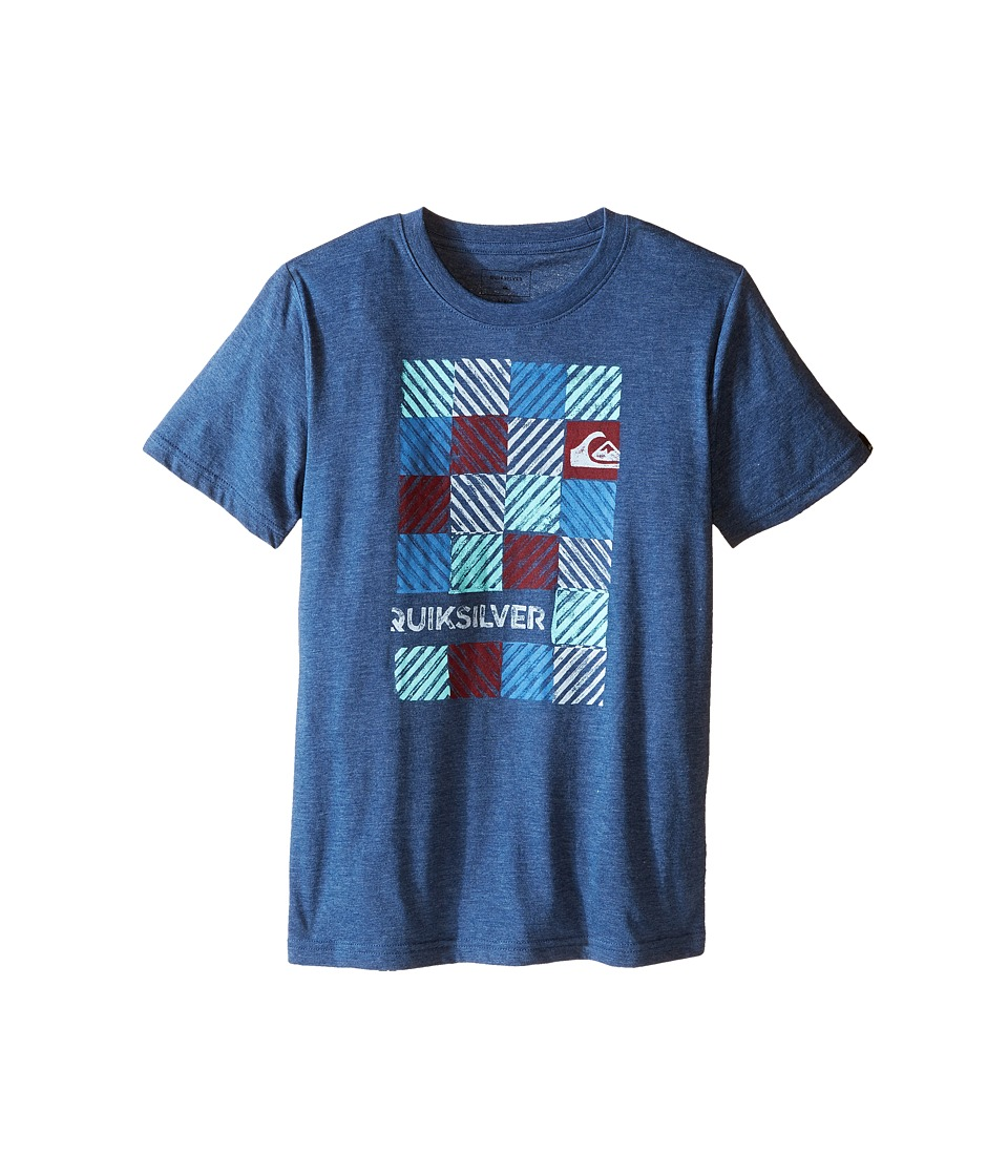 Quiksilver Kids - Opt Out Screen Print (Big Kids) (Dark Denim Heather) Boy's T Shirt
