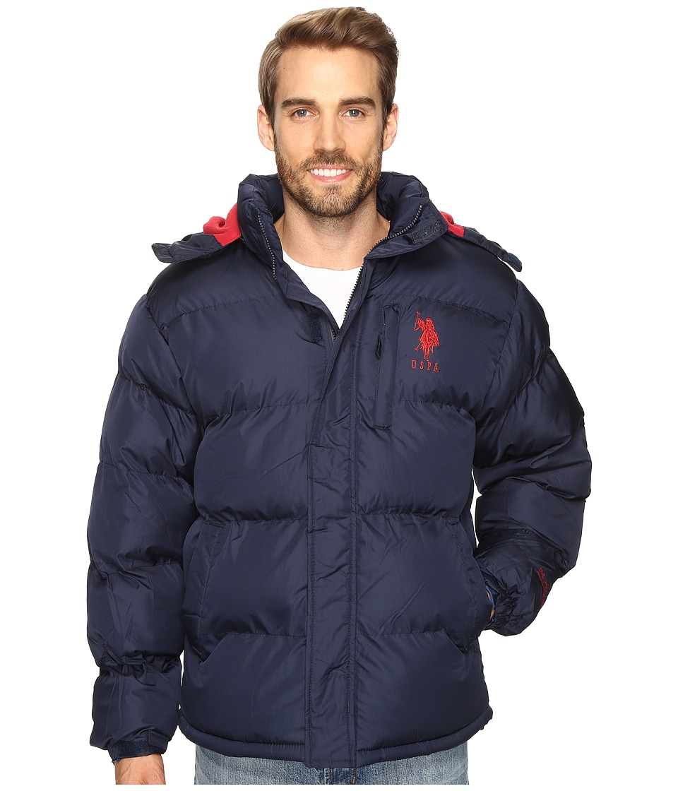 U.S. POLO ASSN. - Classic Short Bubble Fleece Jacket (Classic Navy) Men's Coat