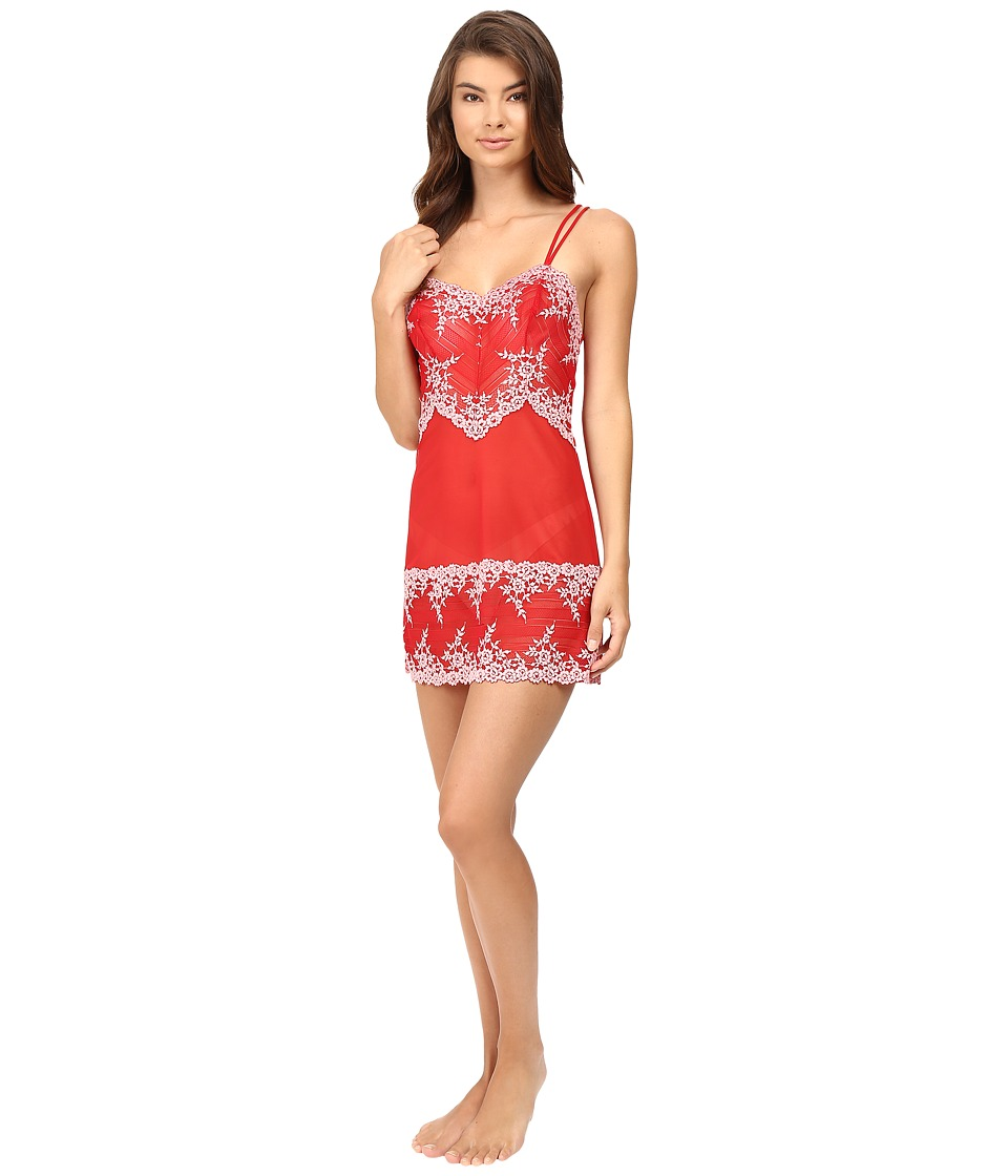 Wacoal - Embrace Lace Chemise (Tango Red/Coral Blush) Women's Lingerie