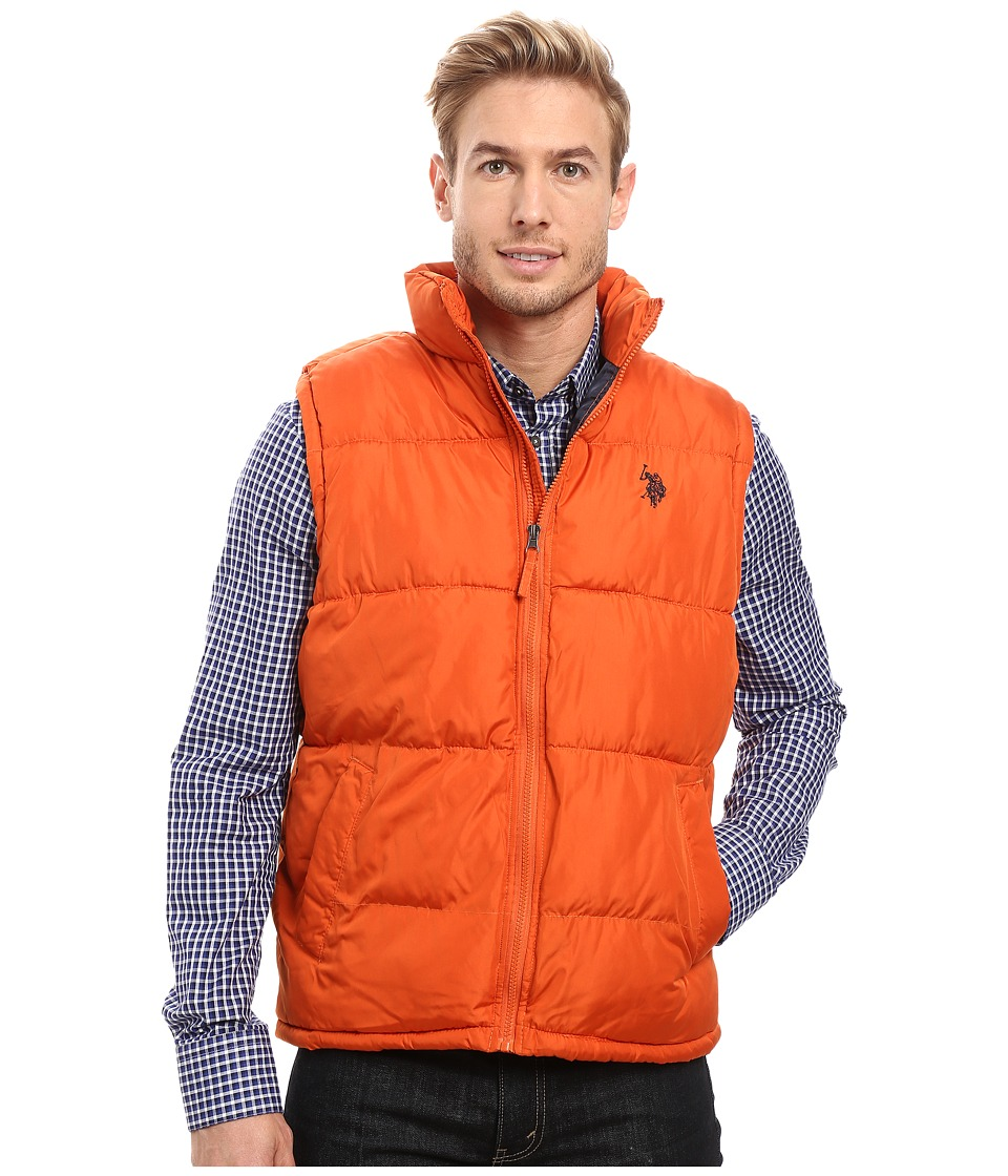 U.S. POLO ASSN. - Basic Puffer Vest (Autumn Orange) Men's Vest