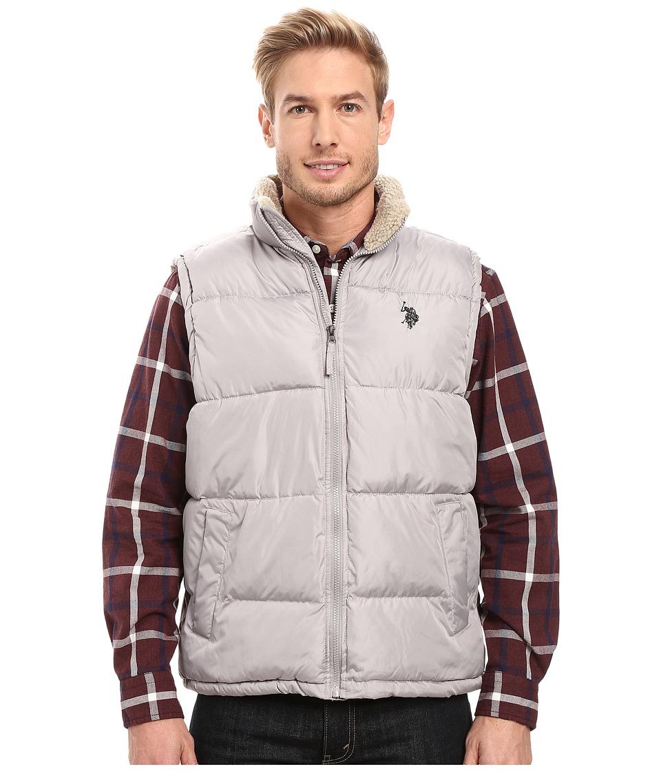 U.S. POLO ASSN. - Signature Vest with Inner Sherpa Collar (Limestone) Men's Vest