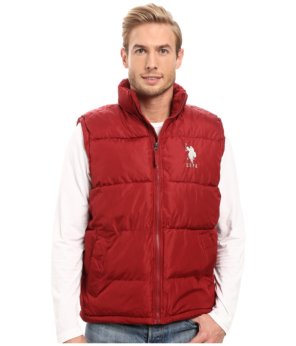 U.S. POLO ASSN. - Basic Vest with Big Logo (University Red) Men's Vest