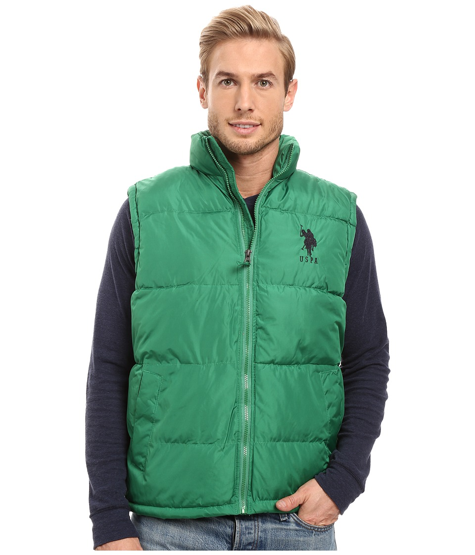 U.S. POLO ASSN. - Basic Vest with Big Logo (Hiking Green) Men's Vest