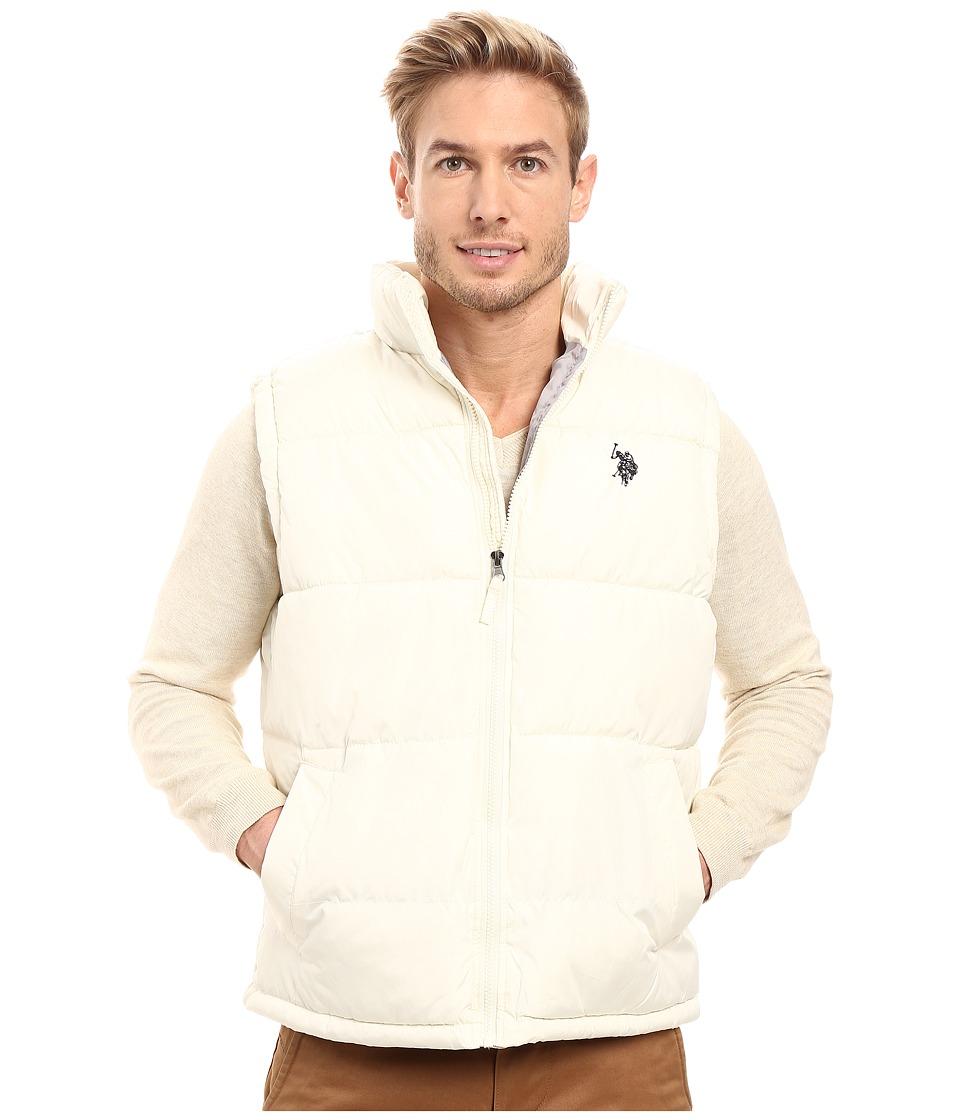 U.S. POLO ASSN. - Basic Puffer Vest (White Winter) Men's Vest