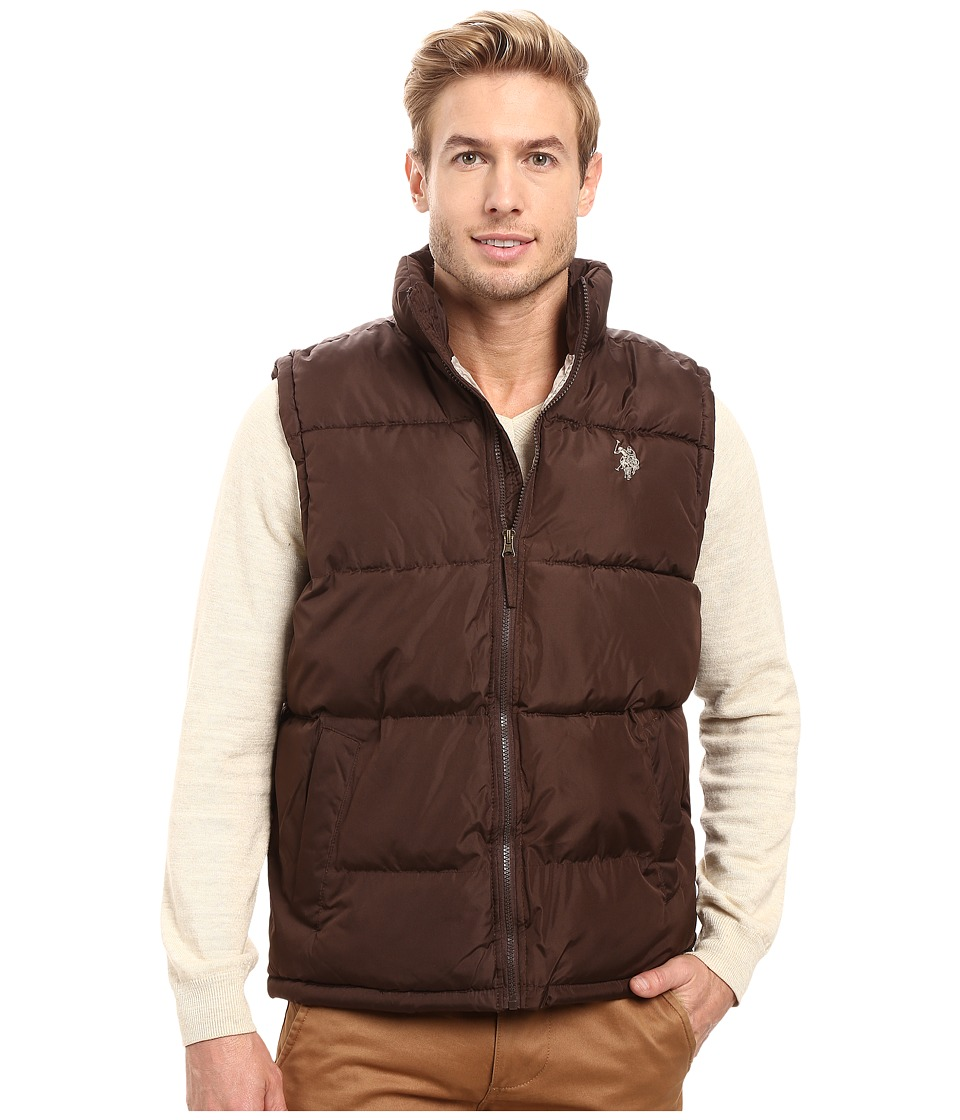 U.S. POLO ASSN. - Basic Puffer Vest (Dark Brown) Men's Vest