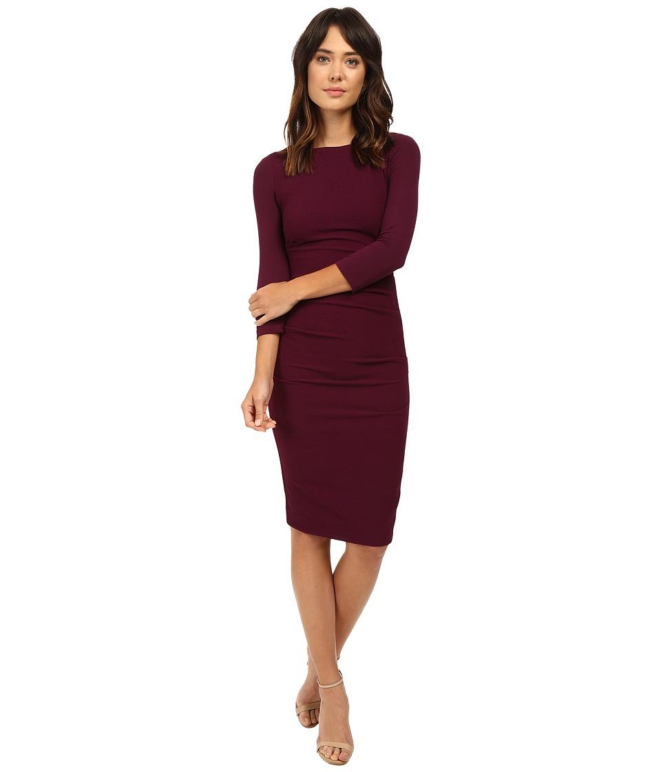 Nicole Miller - Christina Stretch Pebble Crepe Dress (Byzantium) Women's Dress
