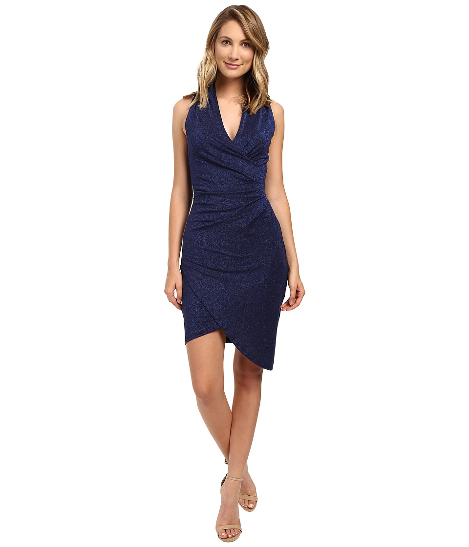 Nicole Miller - Sparkle Stefanie Tulip Dress (Midnight) Women's Dress