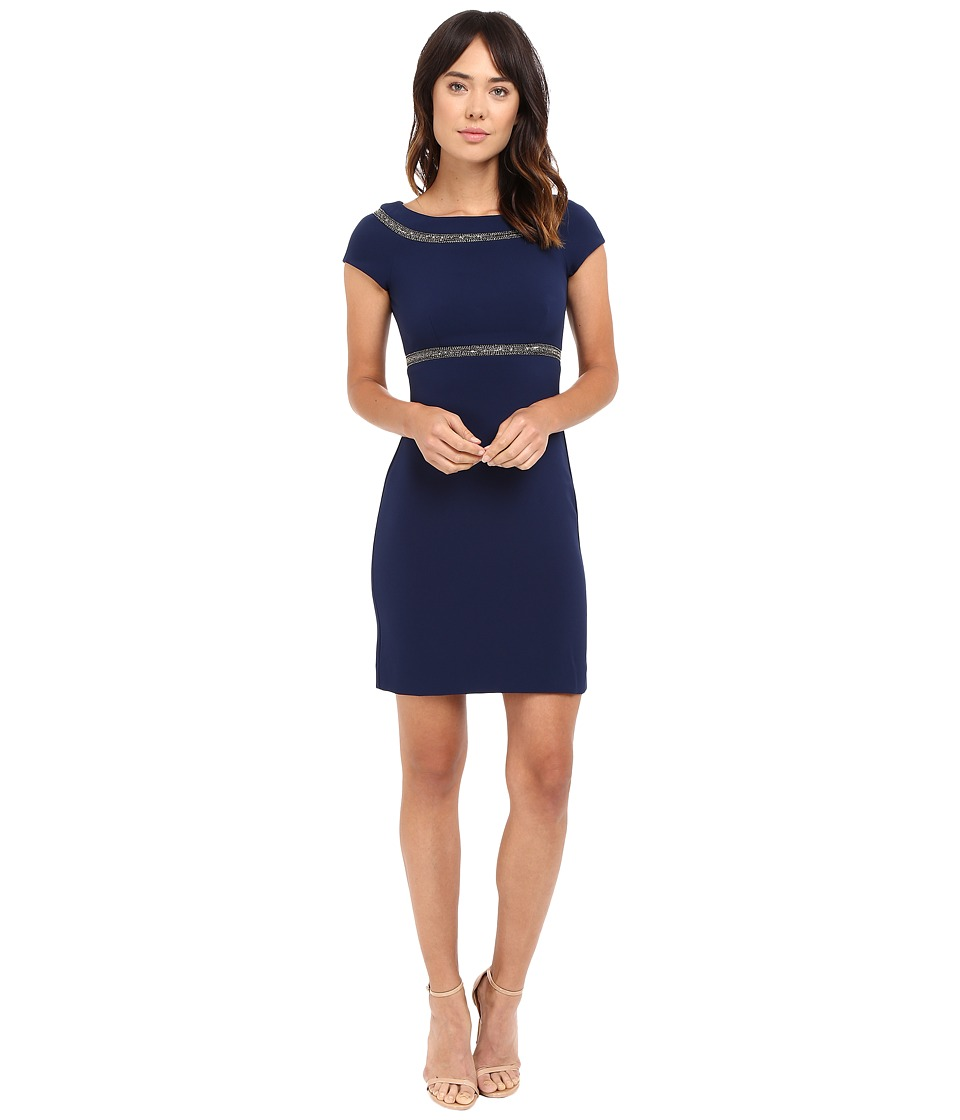 Nicole Miller Embellished Karina Dress (Navy) Women