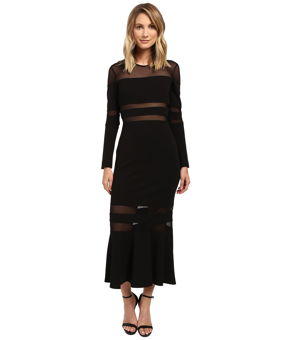 Nicole Miller Elisia Tie Affair Dress (Black) Women