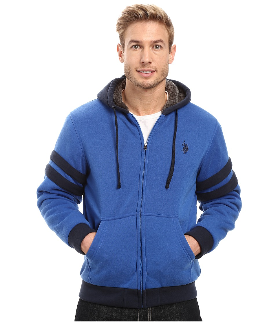 U.S. POLO ASSN. - Fleece Hoodie with Sherpa Lining (China Blue) Men's Sweatshirt