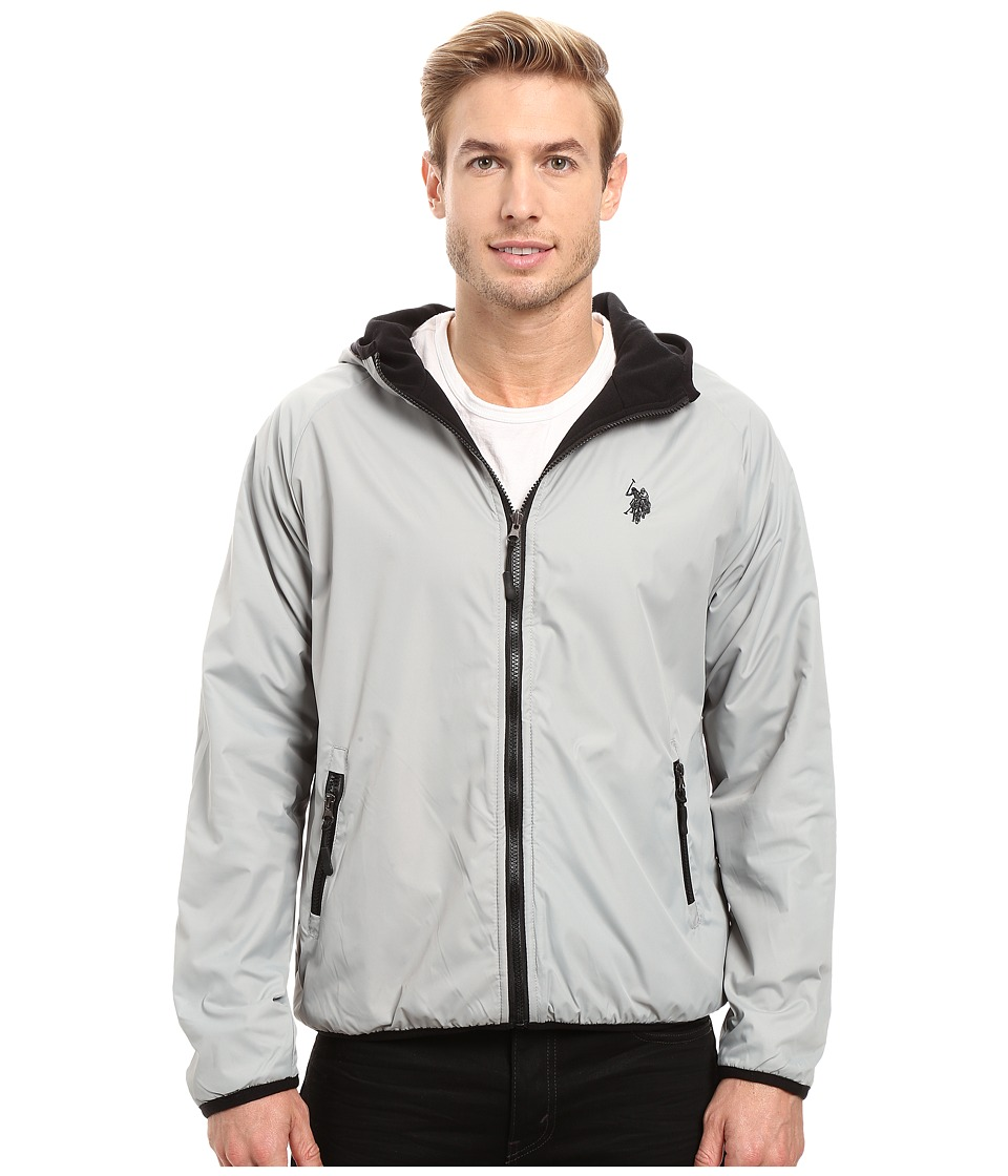 U.S. POLO ASSN. - Reversible Shell Fleece Hoodie (Limestone) Men's Sweatshirt