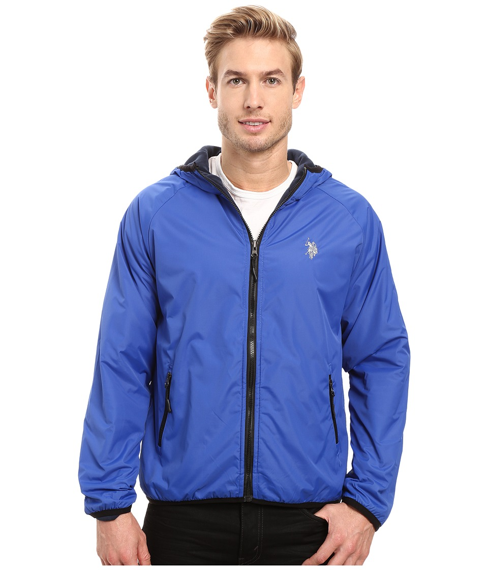 U.S. POLO ASSN. - Reversible Shell Fleece Hoodie (China Blue) Men's Sweatshirt