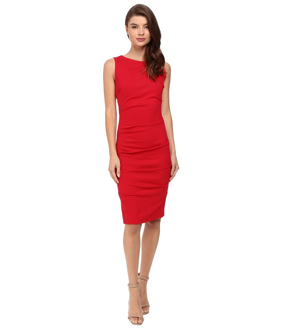 Nicole Miller - Lauren Ponte Dress (Lipstick Red) Women's Dress