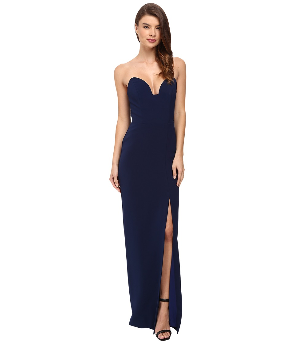 Nicole Miller Casey Bustier Gown Navy Dress