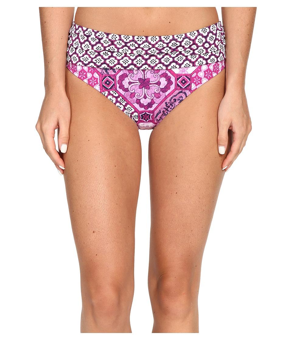Tommy Bahama - Tiles of Tropics High Waist Sash Bottom (Wild Orchid Pink) Women's Swimwear