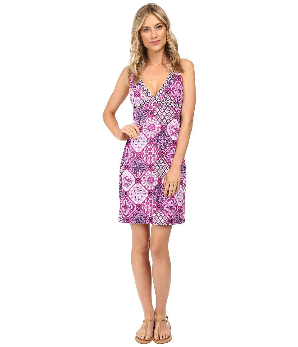 Tommy Bahama - Tile of Tropics V-Neck Spa Dress Cover-Up (Wild Orchid Pink) Women's Swimwear