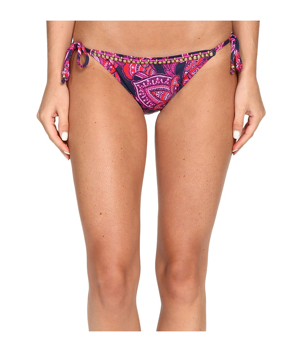 Tommy Bahama Jacobean Floral Beaded String Bikini Bottom (Wild Orchid Pink) Women