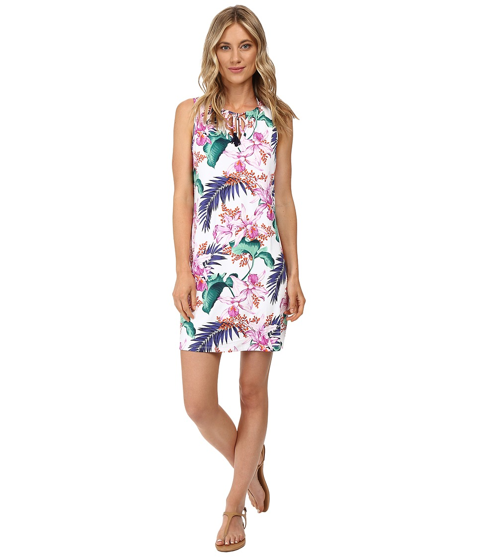 Tommy Bahama - Orchid Canopy Swim Dress Cover-Up (White) Women's Swimwear