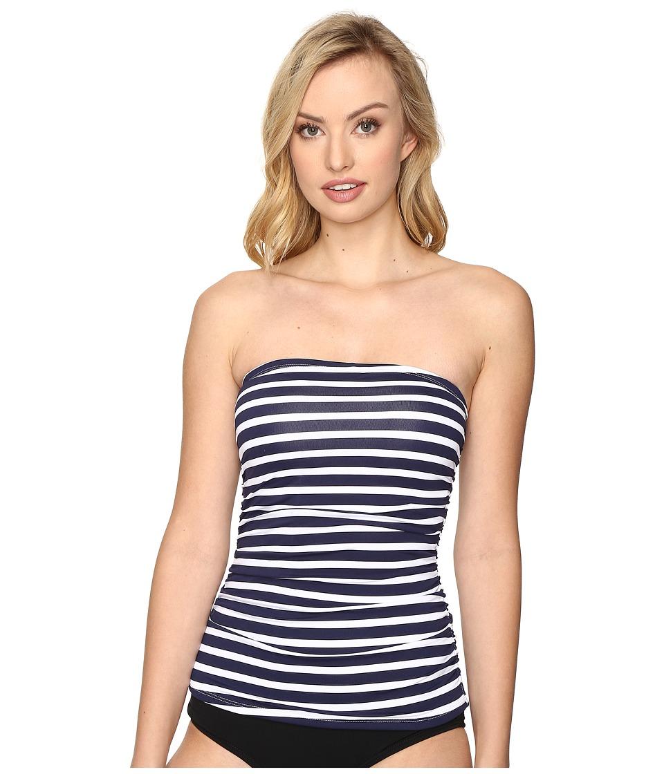 Tommy Bahama - Breton Stripe Shirred Bandini (Mare Navy/White) Women's Swimwear