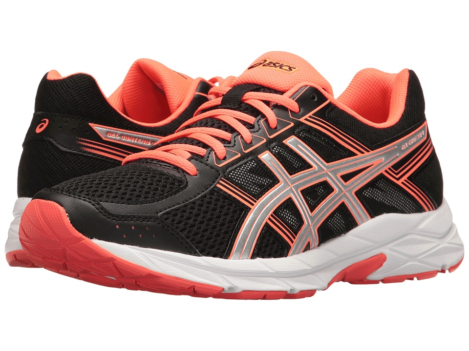 ASICS - GEL-Contend 4 (Black/Silver/Flash Coral) Women's Running Shoes